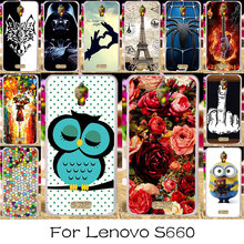 TAOYUNXI DIY Painted Silicone Phone Cover Case For Lenovo S660 S668T S 660 Housing Bag For Lenovo S660 Case Cover Skin Shell