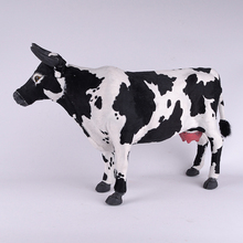 big simulation cow toy new creative handicraft cow model gift about 53x30cm