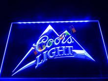 LA004- Coors Light Beer Bar Pub Logo LED Neon Light Sign home decor shop crafts(China)