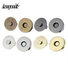 AEQUEEN 5pcs/lot 18mm Magnetic Snap DIY Handbag Purse Clasp Closures Bag Accessories Parts Metal Button Bag Locks