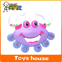 Baby toys Plastic Crab Toy Jingle Baby Kid Musical Educational Shaking Rattle Handbell