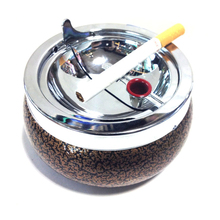 Rolling Metal Cigar Ashtray Round Portable Ashtray Practical Smoking Accessories Cigarette Holder For Cars Draagbaar Auto Asbak(China)