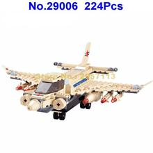Jie Star 29006 224pcs Military Harrier Jet Fighter Aircraft Building Block Brick Toy