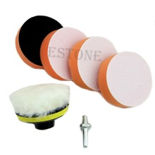 "6pcs 75mm 3"" High Gross Polishing Buffing Pad Kit for Car Polisher Buffer"