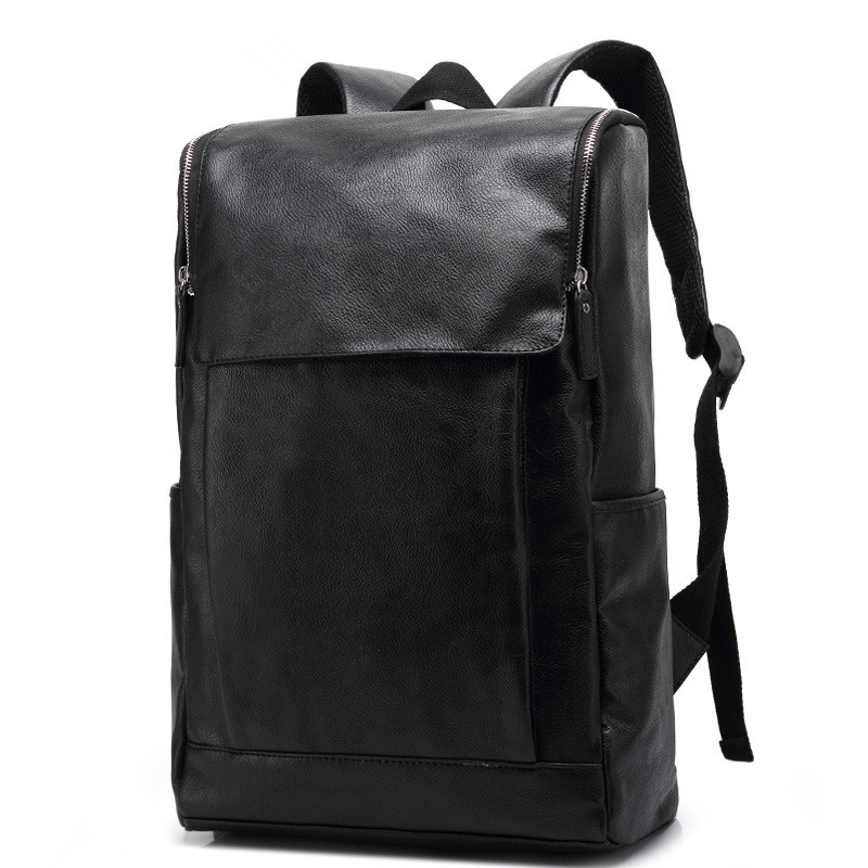 Business Men Casual PU Leather Laptop Backpack High Quality Travel School Backpacks Mochila Daypack Rucksack<br>