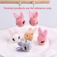 Orden mínima 6 unids lote impresión dibujos animados conejos heards forma animal  lana hecho a 5cd7f223500