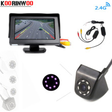 Koorinwoo CCD HD Waterproof Parking Monitor Video System Night Vision Car Rear View Camera 4.3 inch Car Rearview Mirror Monitor(China)