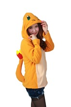 Free PP New Adult Animal Pokemon Charmander Hoodie Pokemon Go Ash Ketchum Trainer Costume