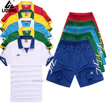 DIY kids soccer jerseys football jerseys kits camisetas de futbol 2016/17 training suits quick drying sport tracksuits for boys