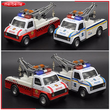 1:28 Die Cast Metal Voiture Model Truck With Hoisting Machine And Four Tone Flashing Siren Toy Car Model For Men n Boys(China)