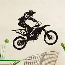 Motor-Racing Art Vinyl Wall Sticker Dirt Bike Mural House Decor Removable Decal Kids Room Home Bedroom Design Wallpaper WW-171