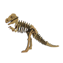 Halloween 3d Puzzle Dinosaur Skeleton DIY Skull Tyrannosaurus Rex Cool Kids Toys T-Rex Craft Model Papercraft Children Game Gift