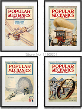 scenry posters canvas paintings popular machinics magazine cover pictures airplane trucks balloon