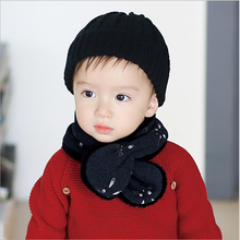 kids baby's warm soft scarf with velvet cute rabbit print children's accessories unisex Hot Sell(W2)