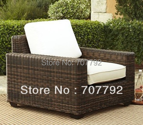 Wicker rattan furniture modern outdoor sofa(China)