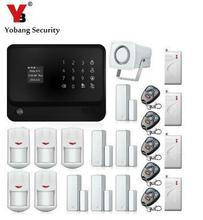 YobangSecurity Touch Keypad Smart Home Security WIFI GSM Alarm System Android IOS APP Control Magnet Door Sensor Shock Sensor(China)