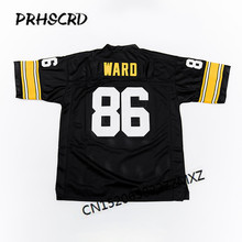 Retro star #86 Hines Ward Embroidered Throwback Football Jersey(China)
