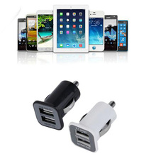 New 12V/24V Micro Auto Car Universal 2 Port USB Car Charger Adapter/Cigar Socket For iPhone iPad iPod 3.1A