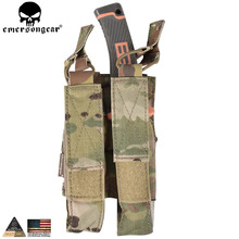 EMERSONGEAR Molle bag Modular Double MAG Pouch For MP7 Air Military Army Utility Accessories Multicam AOR Khaki EM6360