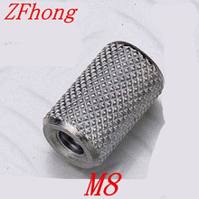 10pcs/lot M8*20/25/30/40 stainless steel Long extend knurled hand tighten coupling nut