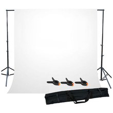 MAHA Hot Photo Studio Background Support Stand with White Backdrop Carrying Case