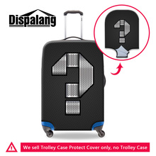 Dispalang Personalized Custom Metal Number Luggage Covers For 18 20 22 24 26 28 30 Inch Mens Rain Dust Suitcase Protector Cover(China)