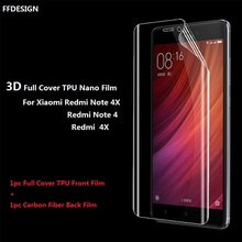 For Xiaomi Redmi 4X (Not Tempered Glass) Screen Protector Full Cover Clear TPU Film Foil For Redmi Note 4 4X Screen Protection(China)