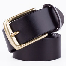 Badinka 2017 New Design High Quality Boss Belt Men Luxury Black Brown Genuine Leather Strap Rope Belts 110cm 115cm 120cm 125cm
