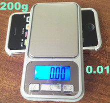 200g*0.01g Electronic LCD Phone type Pocket Digital weighting kitchen diamond jewerly gold Scale Cell Weight Balance scales