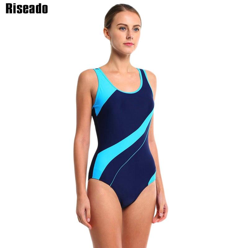 Riseado 17 Sport Swimming Suits One Piece Swimsuits Swimwear Women Summer Beach Padded Striped Bathing Suits Bodysuits 3