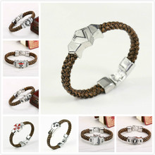 Anime Cartoon Tokyo Ghoul Final Fantasy Assassins Creed Legend of Zelda One Piece Attack on Titan Death Note Wristband Bracelet