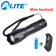 [Free Ship] China XML-T6 LED 3800 Lumen flash light lanterna pocket mini military flashlight with 18650 battery(China)