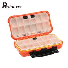 Lure Fishing Box 24 Compartments Double Layer Fishing Box Orange Plastic Fishing Tackle Box