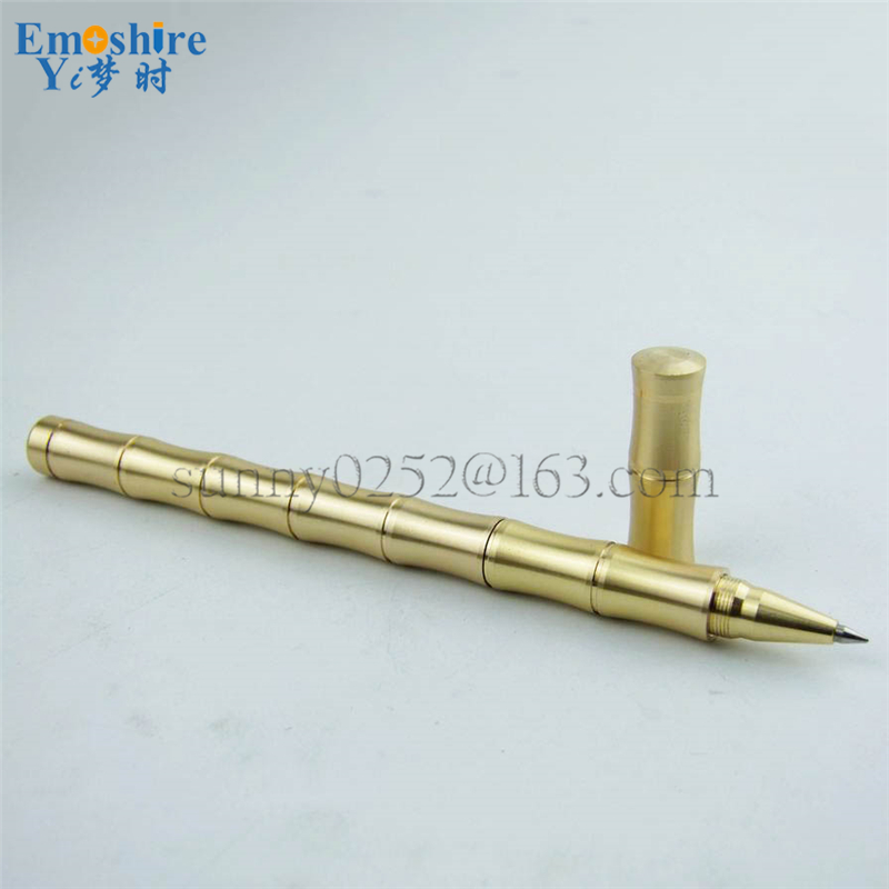 Hot Sale Full Brass Ballpoint Pen for Father's Day Gifts Metal Heavy Ballpoint Pen Office Writing Gel Pen P297(China (Mainland))