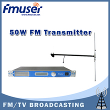 Free shipping FU-30/50B-50W professional FM transmitter 0-50w power adjustable FM radio broadcaster+DP100 DIPOLE antenna Kit