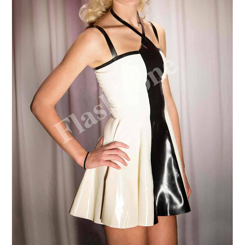 Free shipping!! Women halter sweet latex dress fashions