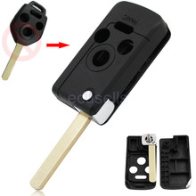 New Replacement 4 Button Uncut Blank Flip Remote Key Fob Shell Case Smart Key Housing for Subaru Legacy Forester Outback