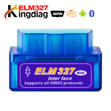 Mini ELM327 Bluetooth 2,0 de interfaz de V2.1 OBD2 OBD 2 Auto herramienta de diagnóstico ELM 327 funciona en Android par/ PC v 2,1 BT adaptador(China)