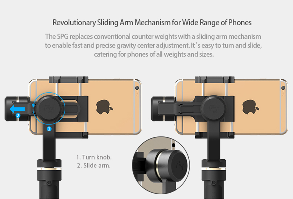 FeiyuTech SPG Gimbal 3-Axis Handheld Gimbal Stabilizer for iPhone 7 6 Plus Smartphone Gopro Action Camera VS Zhiyun Smooth Q