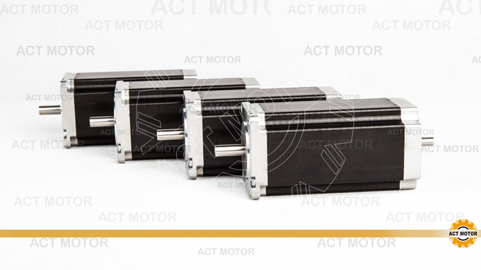 ACT Motor 4PCS Nema23 Stepper Motor 23HS2430B Dual Shaft 4-Lead 425oz-in 112mm 3.0A Bipolar 8mm-Diameter US ME SP IT DE UK Free<br><br>Aliexpress