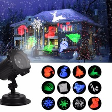 Kmashi IP65 Waterproof red laser 12 Xmas film image Laser motion Projector holiday Outdoor lighting Lantern Flashlight(China)