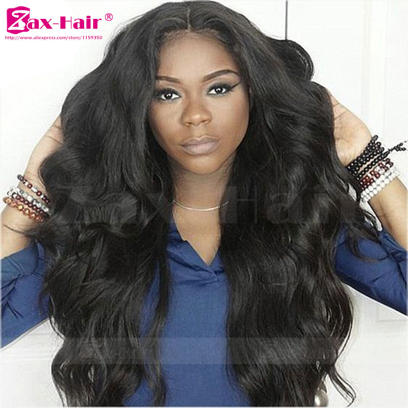 7A Grade Human Hair Full Lace Wigs Natural Hair Line Virgin Unprocess Human Hair Lace Front Wigs Wavy Glueless Lace Front Wigs<br><br>Aliexpress