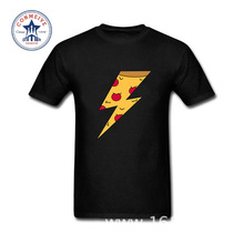 2017 Hot High Quality Cotton Ziggy Pizza Flash Funny T Shirt for men(China)
