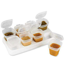 8x70ml Baby Weaning Food Freezing Cubes Feeding Pots Tray Storage Gruel Rice BPA Free Containers Box(China)