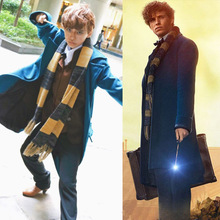 2017 Women Men Scarf Fantastic Beasts And Where To Find Them Scarf Keep Warm Winter Scarf Men Women Cosplay Yellow Black Scarf(China)