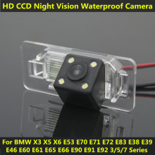 For BMW E38 E39 E46 E60 E61 E65 E66 E90 E91 E92 Car CCD 4 LED Night Vision Backup Rear View Camera Waterproof Parking Assistance