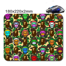290*250*2mm or 220*180*2mm Custom Funny Rubber Soft gaming mouse pad bape wallpaper every lol team gioco competitivo giocatori