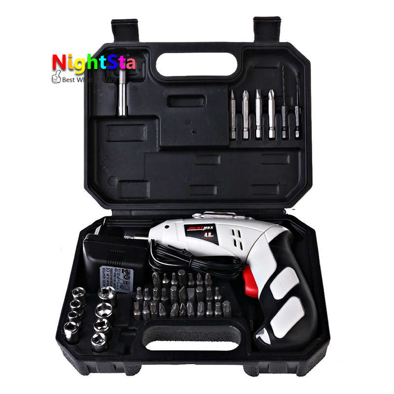 Electric Screwdriver Rechargeable Drill Cordless Battery Powered Screwdrivers Screw Driver Household DIY Tool<br>