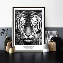 Animal Tiger Canvas Art Black and white nordic poster Modern home decoration wall pictures for living room duvar tablolar(China)