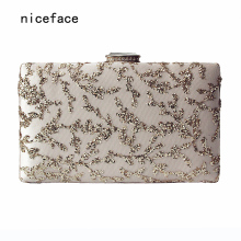 Brand fashion Women new wallet 2017 luxury Sequine eveningbag elegant Woman party prom handbag small shoulder bag vintage Clutch(China)